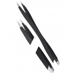 Double Sided Tweezers - Black