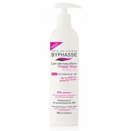 Byphasse Soft Cleansing Milk for Face and Eyes - 500ML